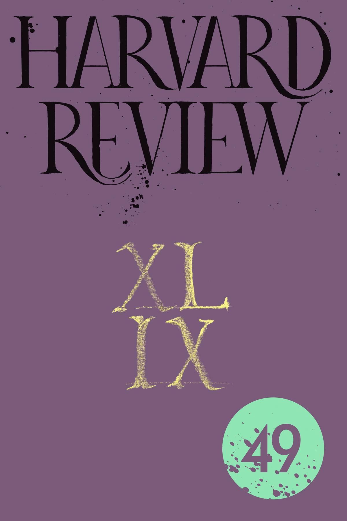 Harvard Review 49